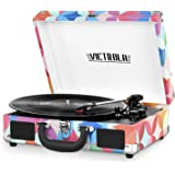 Victrola Vintage Bluetooth Portable Suitcase Record Player with Built-in Speakers