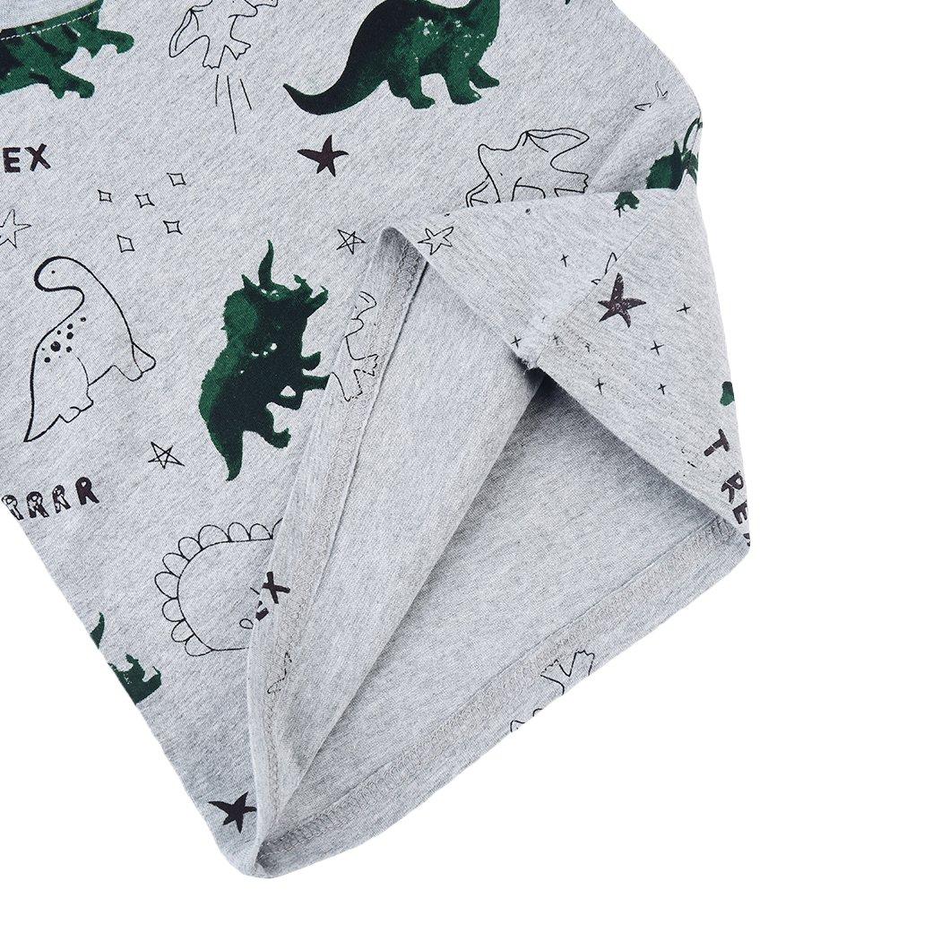 CM-Light Boys Toddler Short Sleeve Shirt Dinosaur Tee Cotton T-Shirt Kids Top 2 3 4 5 6 Years