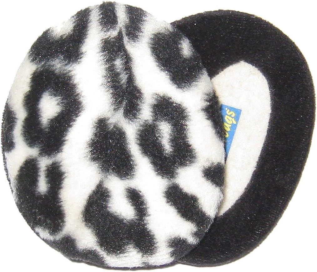 Animal Leopard Lizard Snake Pattern Winter Earmuffs Ear Warmers Faux Fur Foldable Plush Outdoor Gift