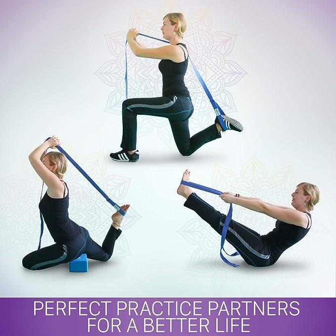 Amazon.com: A2ZCARE - Bloques de yoga (juego de 2) y correa ...