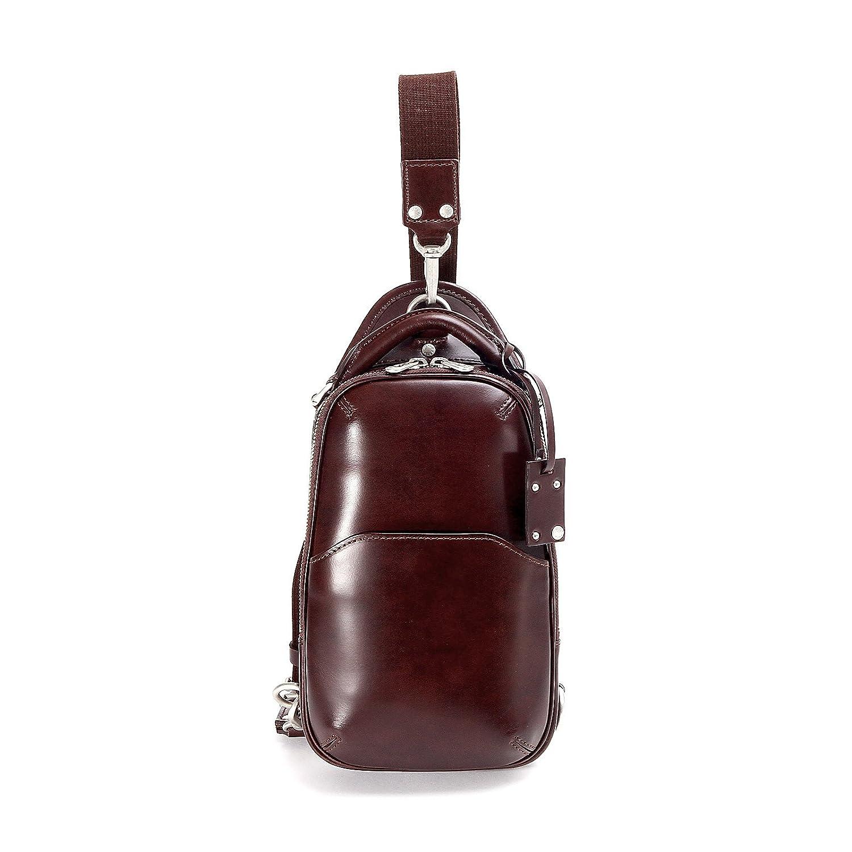 fa86ff499f62 エルゴポック ボディバッグ ワンショルダー Waxed Series) 06-OS B01MYE125U ダークブラウン ダークブラウン  Leather(06-ウエストバッグ
