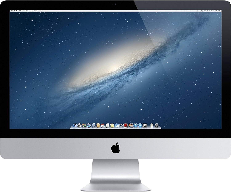 Apple iMac ME088LL/A Late 2013, Intel Core i5-4570 3.2GHz 8GB DDR3 RAM 1TB HDD + 128GB SSD Storage - 27in, Silver (Renewed)