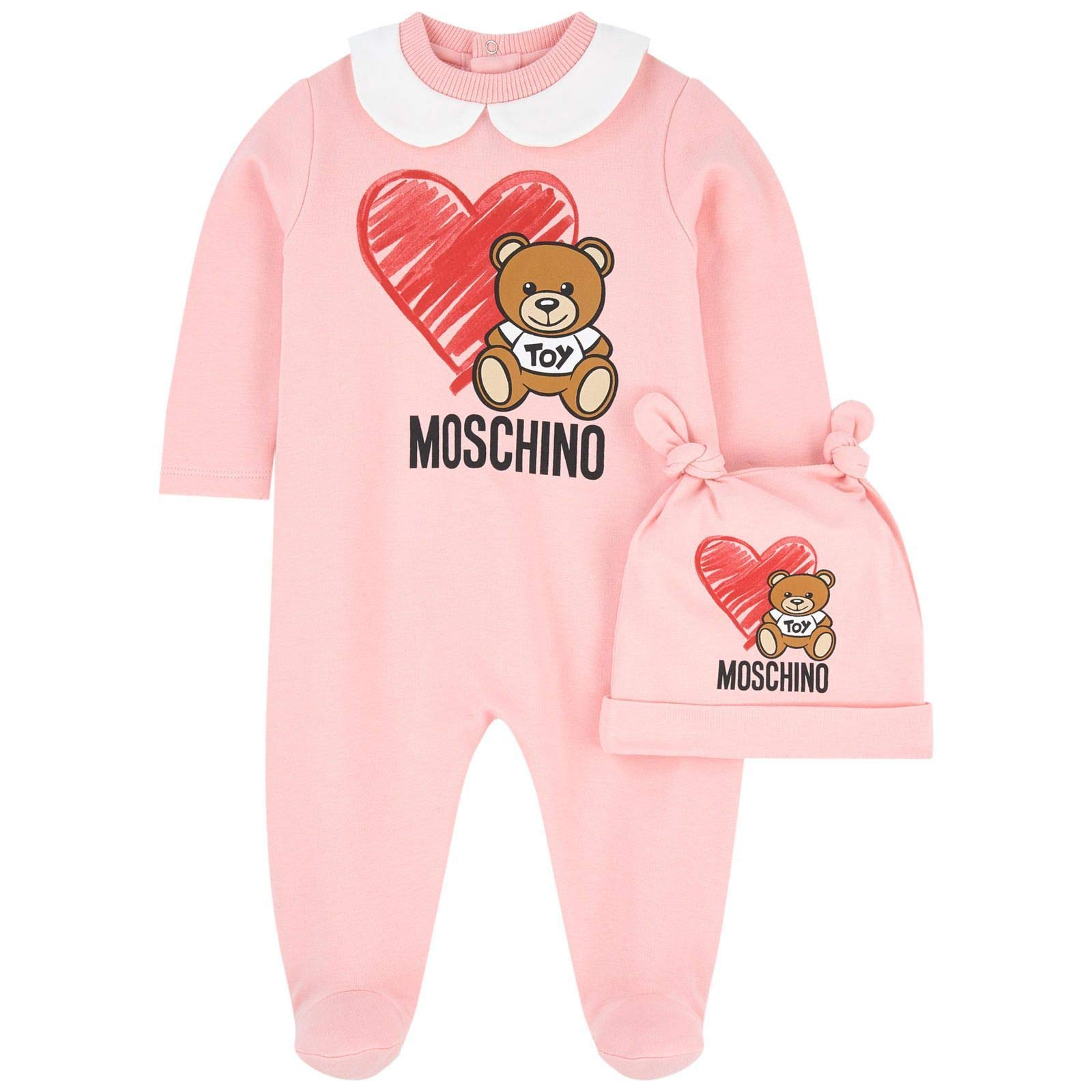 MOSCHINO Luxury Fashion Baby-Girls Jumpsuit Winter Pink by MOSCHINO
