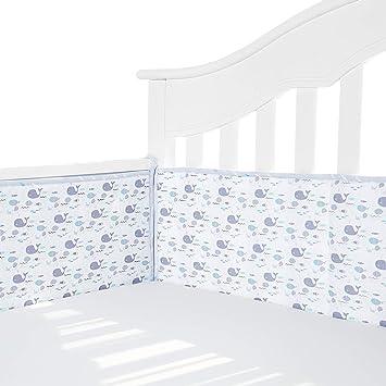 Padded and Safe Crib TILLYOU Organic Crib Bumper Pads for Standard Crib Rails