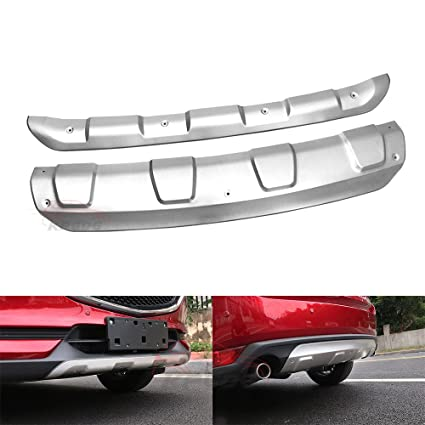Steel Front Rear Bumper Protector Skid Plate Guard for Mazda CX-3 2015-2018 2019