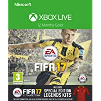 Xbox Live 12 Month Gold Membership + FIFA 17 Special Edition Legends Kits DLC  [Xbox Live Download Code]