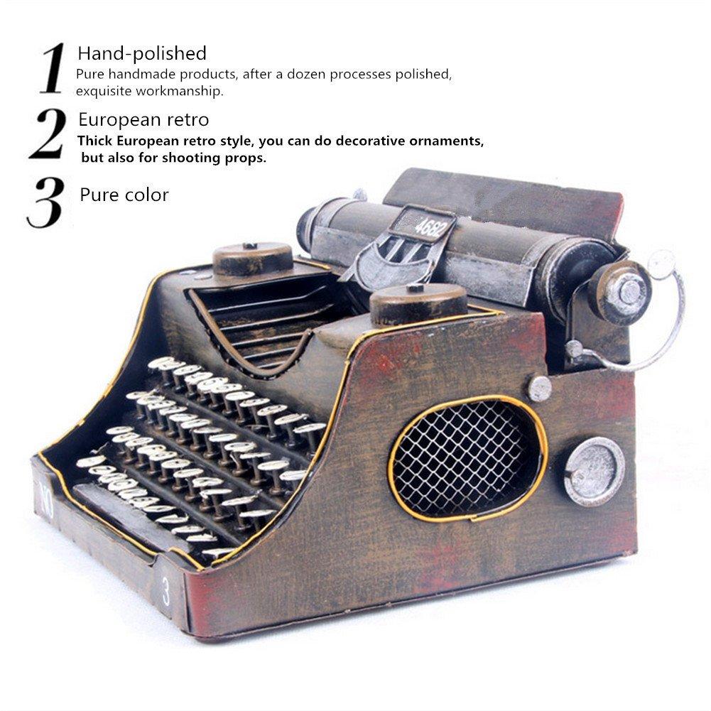 Metal Máquina De Escribir Fotografía Prop Studio Artesanía Muebles Home Bar Decoración Regalo 17 * 13 * 25 CM: Amazon.es: Hogar