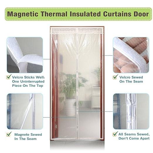 Magnetic Screen Door 72X80 Thermal And Insulation EVA Wide Mega Mesh 72 X 80 Fit