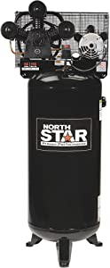 NorthStar High-Flow Electric Air Compressor - 4.7 HP, 60-Gallon Vertical Tank