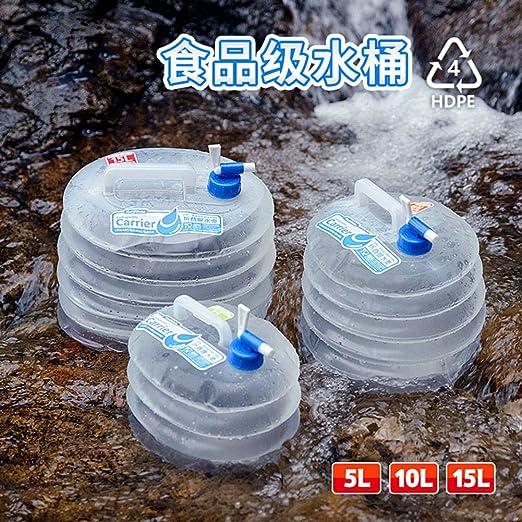 Naturehike Contenedor de Agua Plegable sin BPA - Cubo de Agua para Acampar y Practicar Montañismo, 5L / 10L / 15L: Amazon.es: Deportes y aire libre