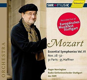 モーツァルト : 交響曲 第28番、第31番「パリ」、第32番、第35番「ハフナー」 (Mozart : Essential Symphonies Vol. VI ~ Nos. 28, 32, 31 Paris, 35 Haffner / Roger Norrington, Radio-Sinfonieorchester Stuttgart des SWR) [輸入盤]