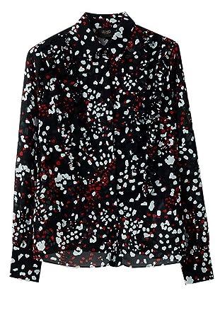 Jo Liu Camisas Clásico Para Mujer Jeans Manga Red Larga Udwq1BPdnF