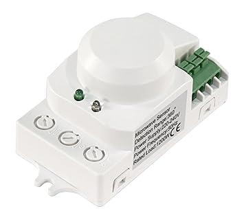"McShine Microondas Detector de Movimiento 360 °""LX PFI-701 C, 230"