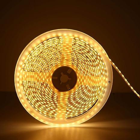 5M 300 SMD LED Strip Streifen Band Lichtleiste Lichterkette Schlauch Warmweiß DE