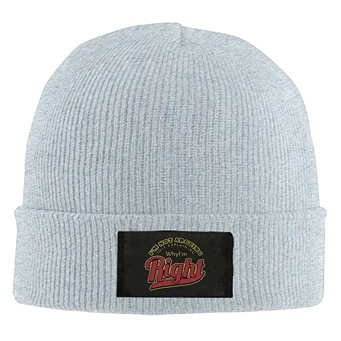 346d437cd8f Amazon.com  IEHFE MCNXB Men Women I m Not Arguing Just Explaining Why I m  Right Daily Beanie Hat Outdoor Skull Cap Warm Hat Knitted Beanies  Clothing