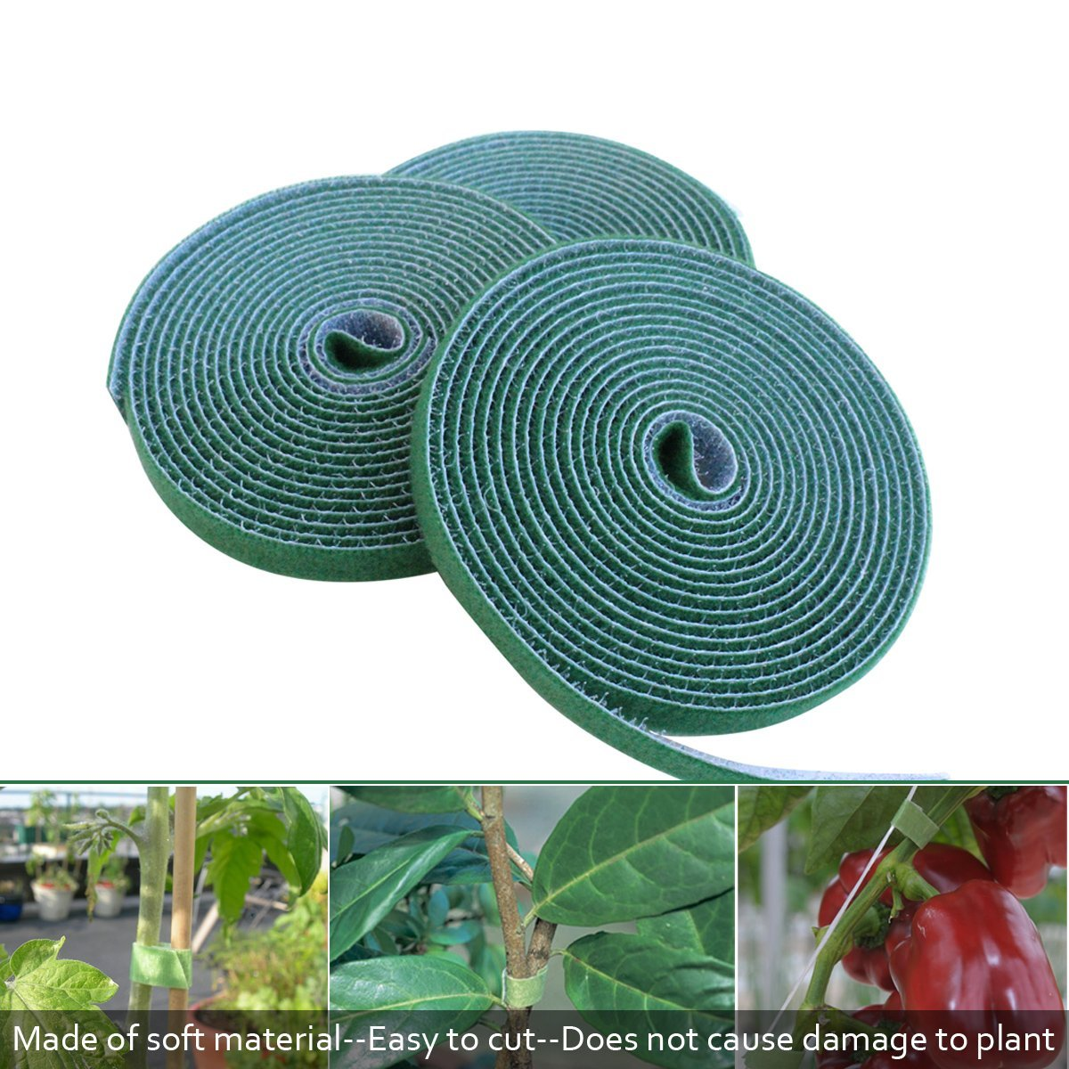 Hook & Loop Garden Strips- Ties Stems Plants Securely- Enables Fast ...