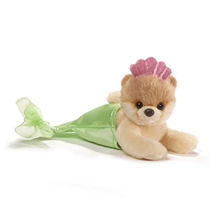amazon com gund itty bitty boo mermaid dog stuffed animal plush 5