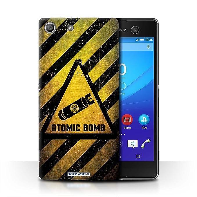 Stuff4 Funda/Carcasa para Sony Xperia M5/Atom Bombe patrón ...