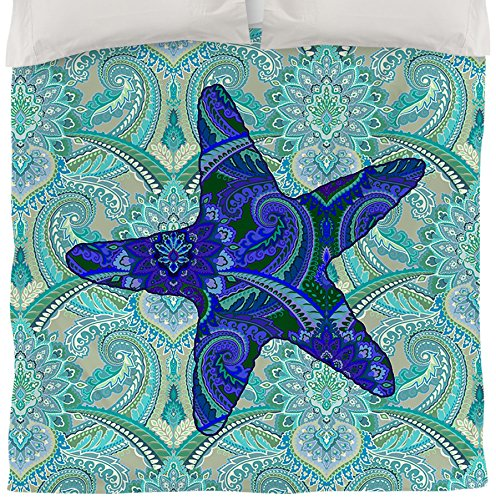 UPC 888635229986, Manual Woodworkers & Weavers Duvet Cover, Queen/Full, Starfish Paisley