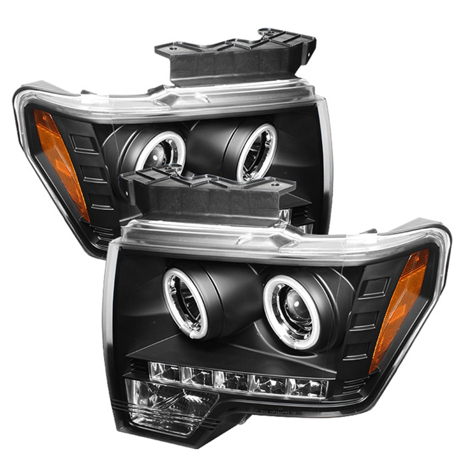 Amazon Com Spyder Auto Ford F150 Black Ccfl Led Projector