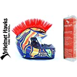 Helmet Hawks Motorcycle Helmet Mohawk w/ Sticky Velcro Adhesive - Candy Red