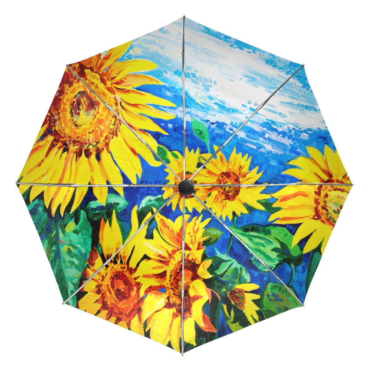 6cb79c2aa05e hot sale 2017 Windproof Auto Open Close Sunflower Oil Painting ...