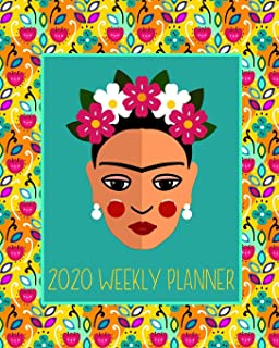 Amazon.com : Frida Kahlo 2019/2020 Premium 17 Month Week to ...