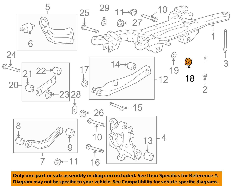 Amazon.com: General Motors 11546593, Suspension Stabilizer Bar Link Nut: Automotive