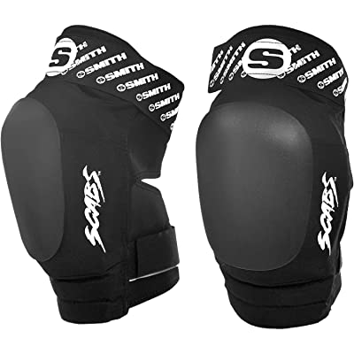 Smith Safety Gear Scabs Elite Black/Black Knee Pads - Small/Medium : Sports & Outdoors [5Bkhe0402115]
