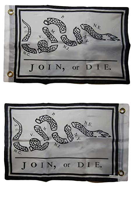 """Gadsden Don/'t Tread on Me 12x18 12/""""x18/"""" Embroidered Double Sided Flag Grommets"""