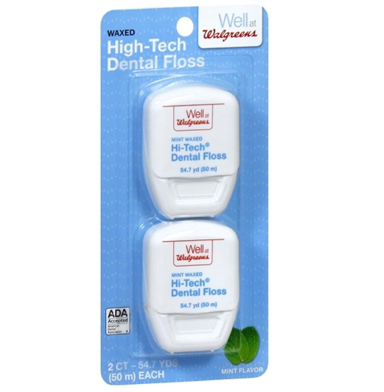 Amazon Walgreens Hi tech Dental Floss 54 7 Yards Flossing