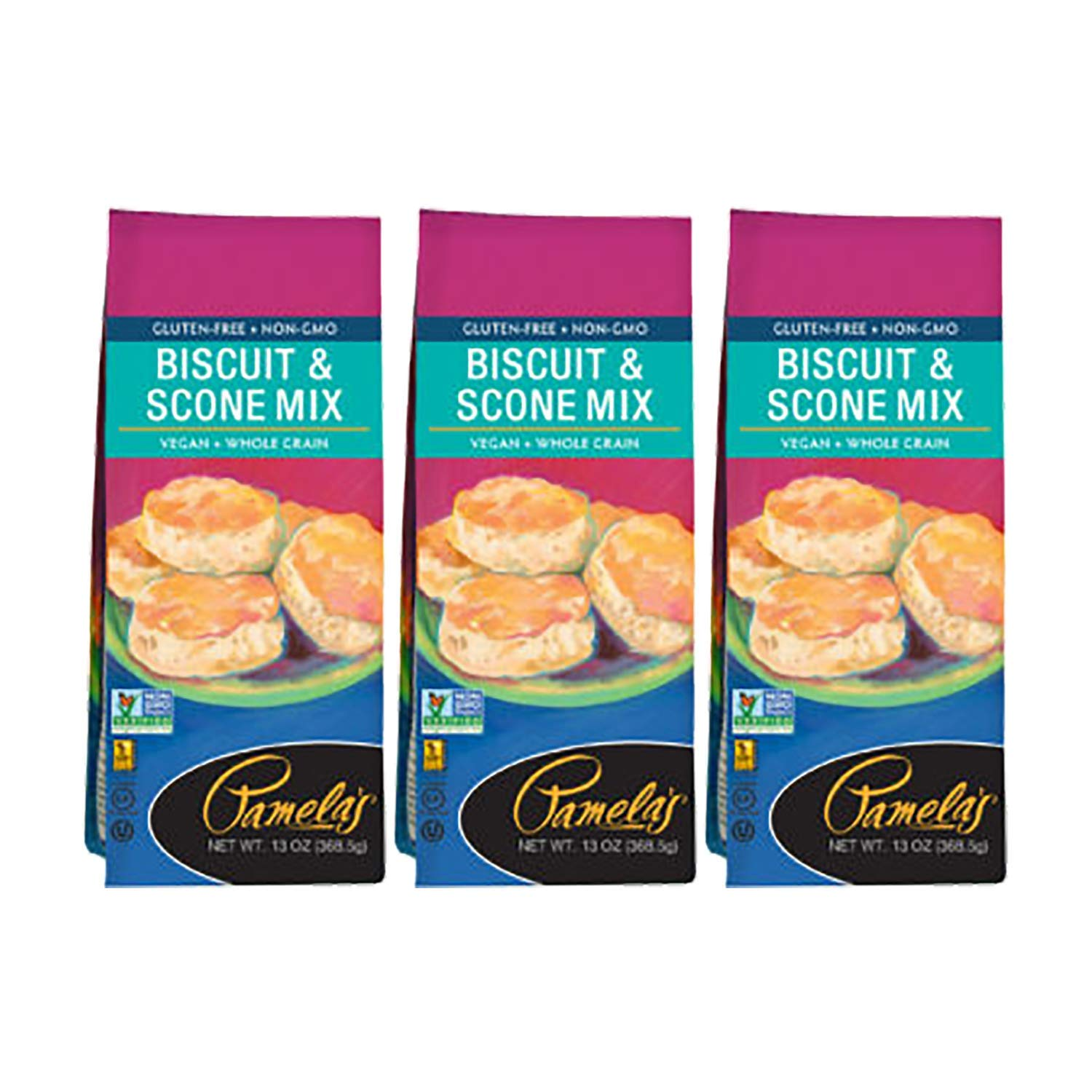 Pamela's Products Gluten Free Biscuit & Scone Mix, 13 ounce,(Pack - 3)