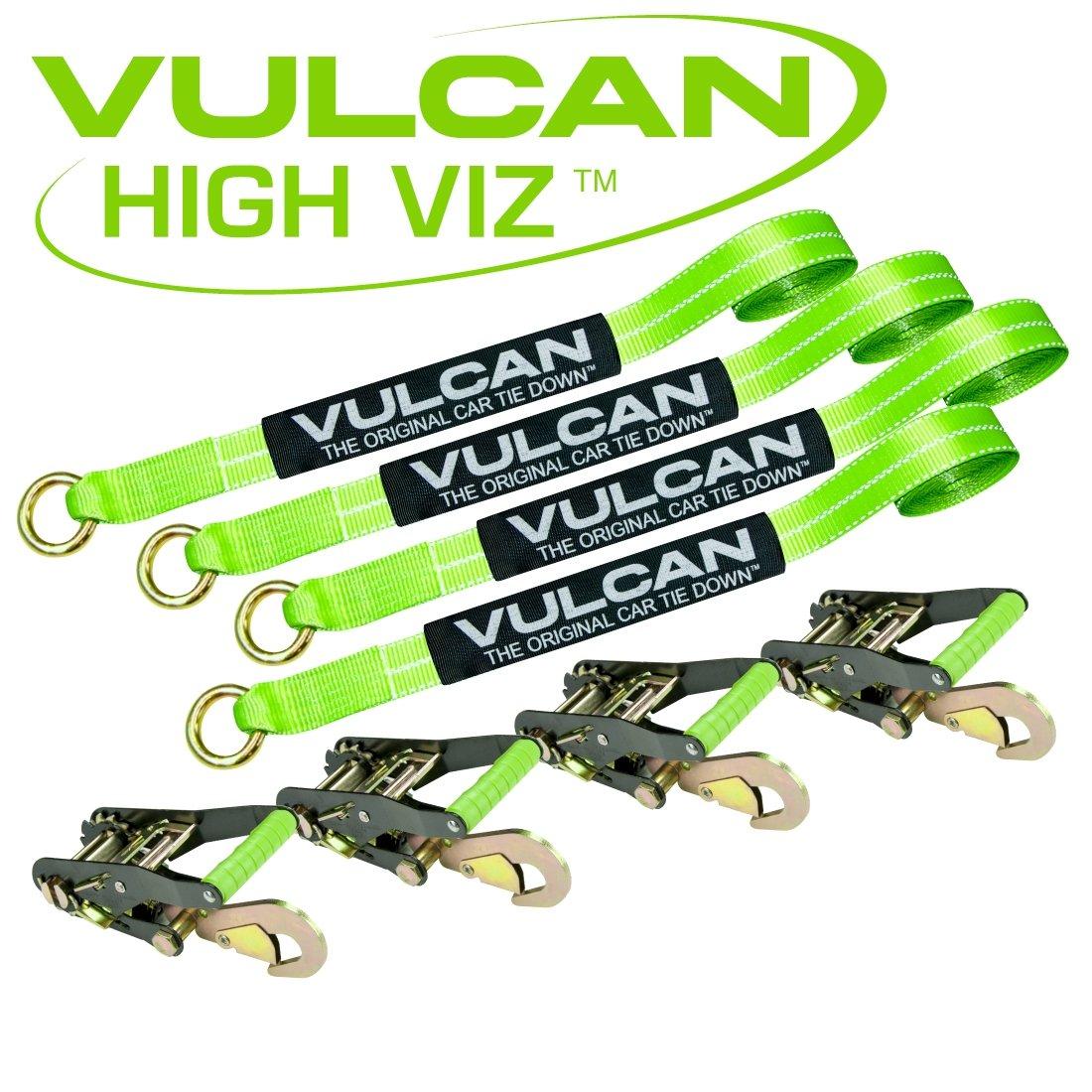 Vulcan HI-VIZ 96'' Lasso Auto Tie Down w/Snap Hooks - 3300 lbs. SWL 4 Pack by Vulcan (Image #2)