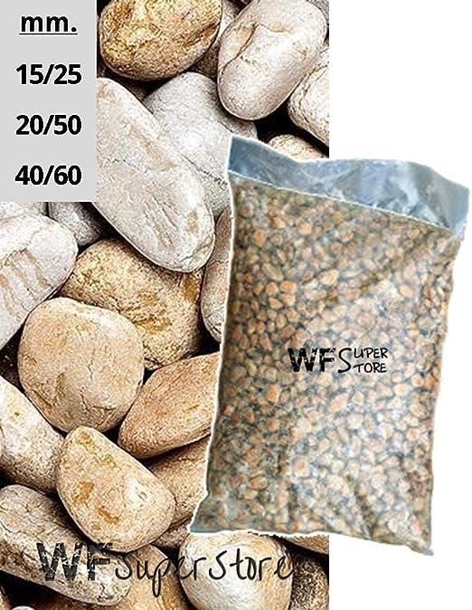 WUEFFE S.R.L. Piedras de mármol Amarillo Mori – Saco de 25 kg – Piedras de jardín: Amazon.es: Hogar