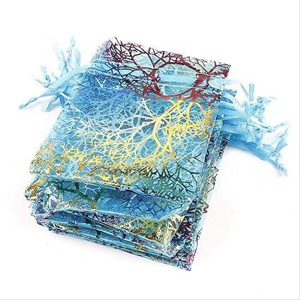 50pcs 7x9 9x12 10x15 13x18cm Oro Blanco Azul Coral Joyas ...
