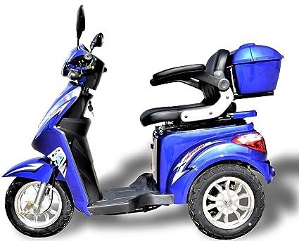 650 W eScooter - Scooter eléctrico de 3 ruedas, silla eléctrica para personas mayores o
