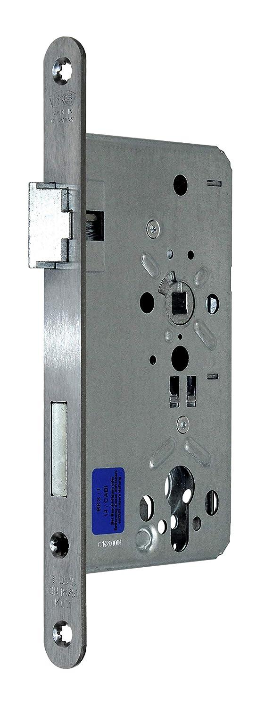 BKS Zimmer Türschloss Objektqualität 0515 Kl. III für Profilzylinder 60/72/8, Edelstahl Stulp: 20 x 235mm abgerundet, DIN Links incl. SN-TEC® Montageset BKS/SN-TEC