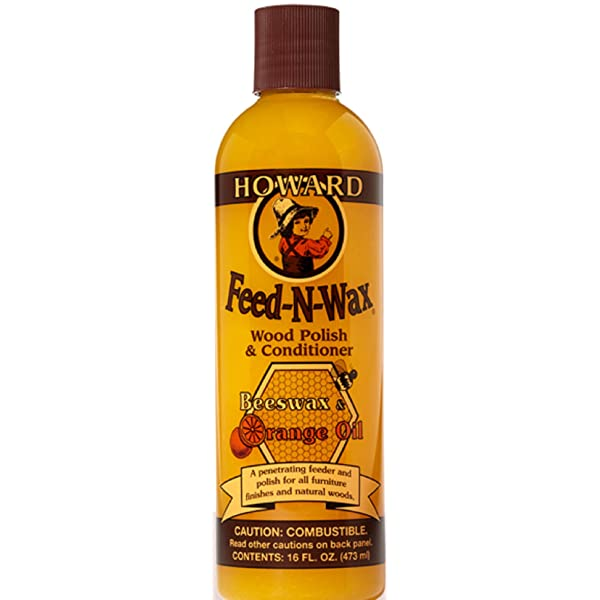 FEED-N-WAX DE HOWARD PRODUCTS - ESMALTE Y ACONDICIONADOR DE MADERA, COLOR NARANJA, FW0016