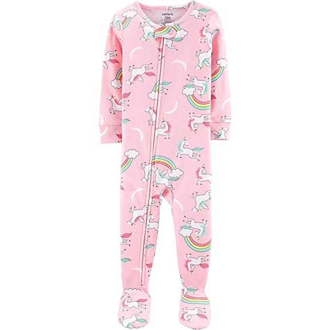 8678a33f7 Amazon.com  Carter s Girls  1-Piece Footed Snug Fit Cotton Pajamas ...