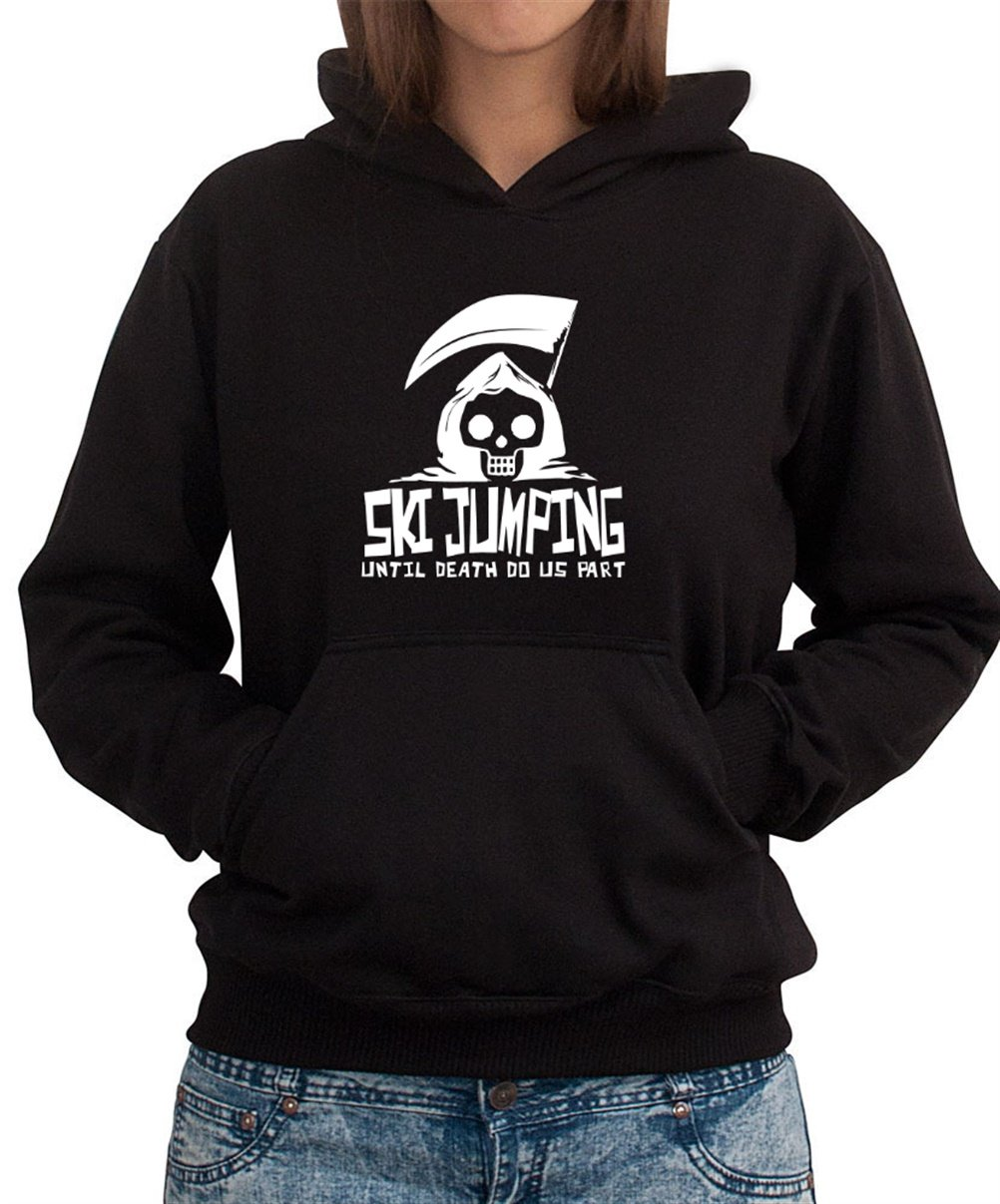 Ski Jumping UNTIL DEATH SEPARATE US Women Dame Hoodie