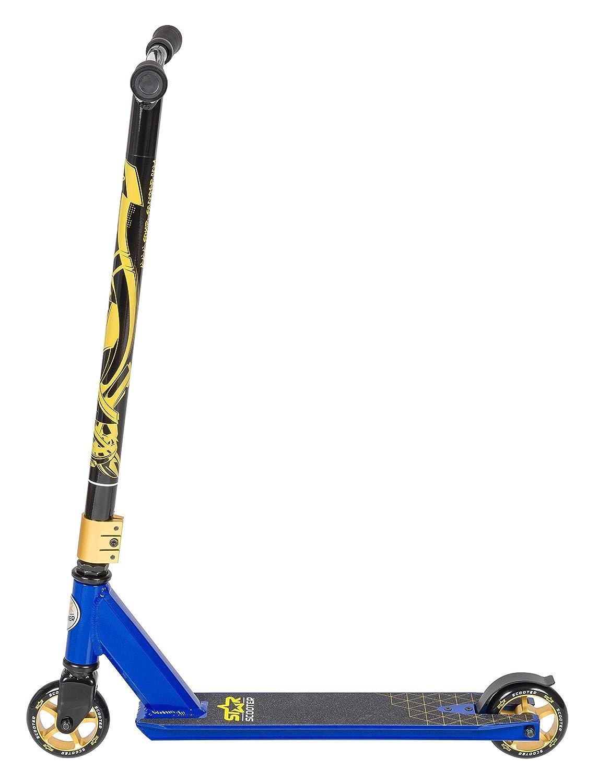 100 mm Edici/ón Entrada Azul STAR-SCOOTER Patinete Patineta Scooter Freestyle Stuntscooter para ni/ños y ni/ñas a Partir de 7 a/ños y Adultos