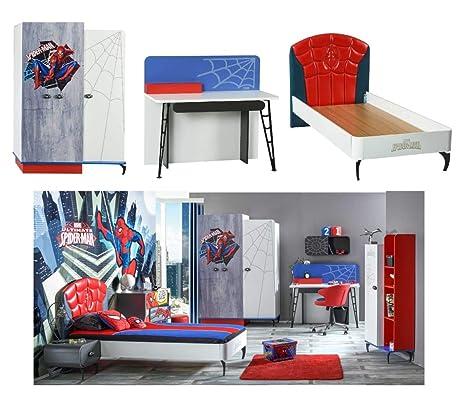 Alfemo Spiderman habitación de los Niños Set, de 3 Piezas. Colchón + 7 Zonas