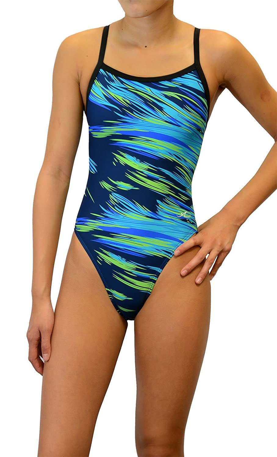 Adoretex Girls//Womens Thin Strap Pro Athletic Team Swimsuit
