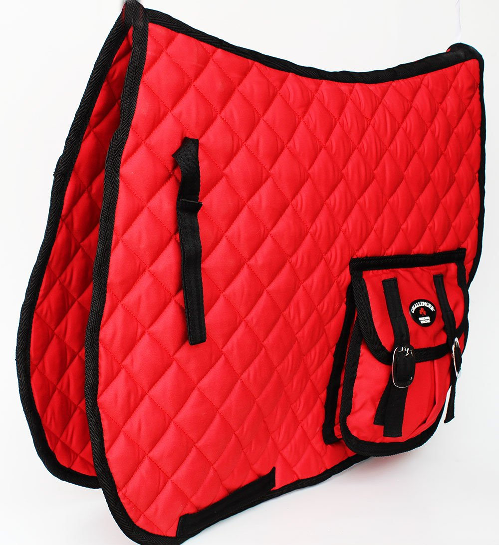Set of 6 Quilted Saddle Pads For Sale