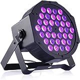 TECKEPIC ブラックライト 36個LED紫外線ライト 音声起動 自走機能付きステージライト 単色ビームUVライト ポータブルサイズディスコ/舞台/演出/照明/バー/パーティー