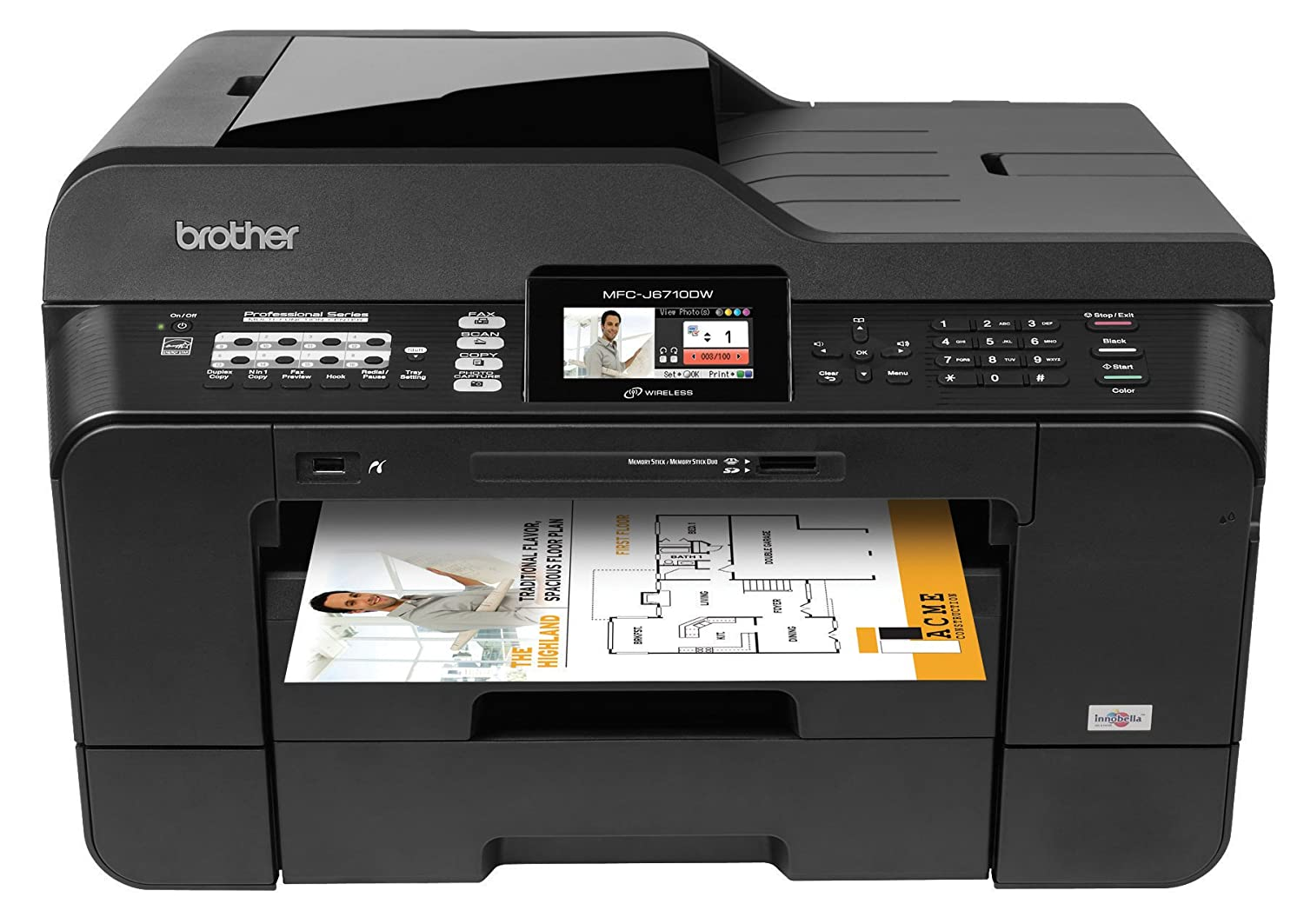 Printer Brother Mfcj6710dw Business Inkjet Printer