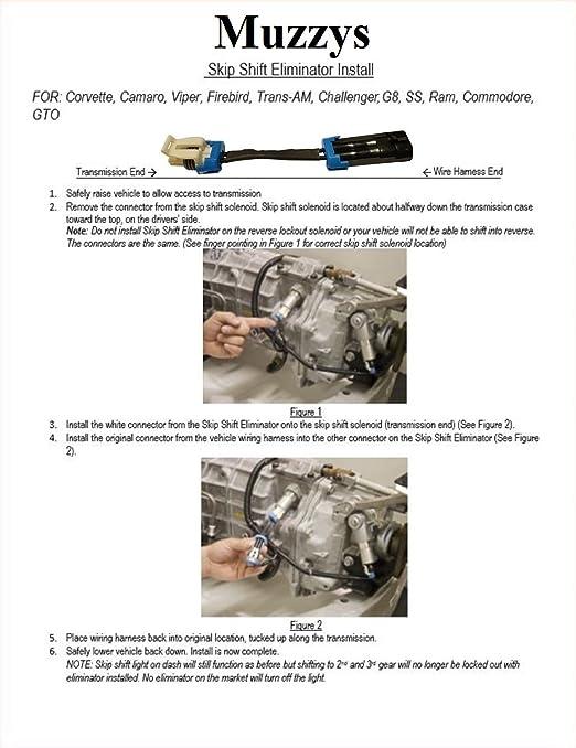 719E6tKMr6L._SX522_ amazon com muzzys cags skip shift eliminator for 1992 2018 2016 Camaro SS White at n-0.co