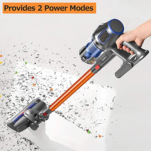 Vacuum Cleaner, Super Suction Pet Hair Eraser, 4 in 1 Bagless Upright Corded Stick Vacuum,Easy Empty Dirt Bin,Noise Free, Lightweight Versatile Handheld Vacuum with LED Multiple Brush