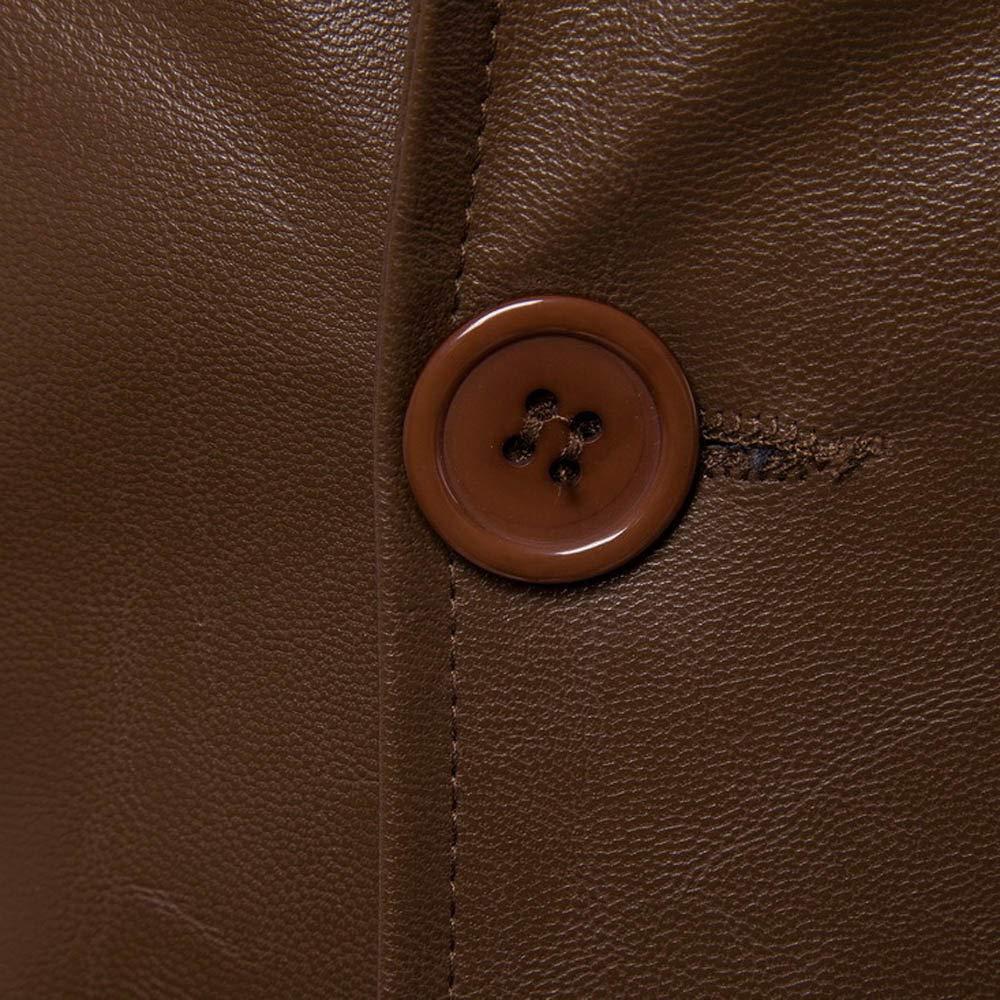 Homebaby Giacca in Pelle da Uomo Classico Doppio Petto Blazer Felpe Elegante Caldo Impermeabile Giubbini Manica Lunga Camicia Maglia Autunno Inverno Abbigliamento