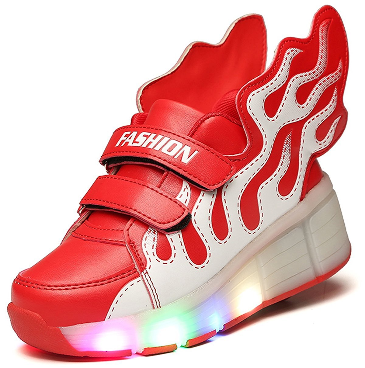 LED Light roller shoes with single wheel skate sneaker for Girl's Boy's Christmas Halloween Gift